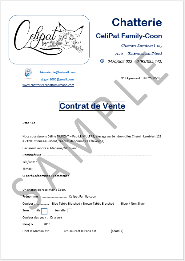 contract compagnie page1